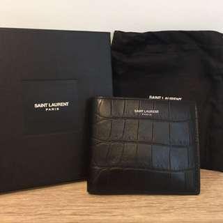 Saint Laurent Croc embossed Men's Wallet
