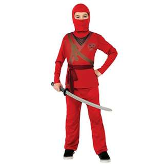 BN Red Ninja Costume for Kids Boys Birthday parties Costume Parties Character Day