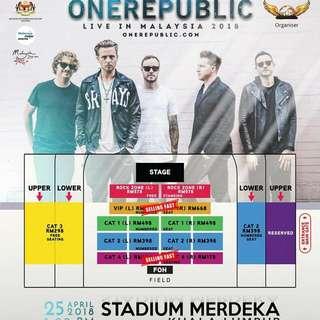 OneRepublic Ticket
