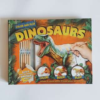 """""""Color and Play - Dinosaurs"""" Activity Book - 109K (new)"""
