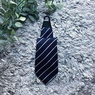 Silk Navy Blue Stripes Tie