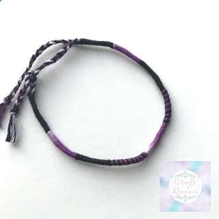 紫黑色系手繩/腳繩
