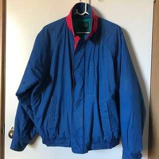 Vintage Retro Mens Medium IZOD Blue Puffer Jacket
