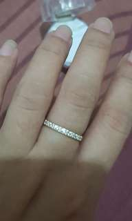 Diamond accent GENUINE SILVER ring