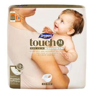 2 packs of Drypers Touch M