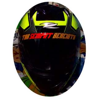Zeus 811 Helm Full Face - Kuning Stabilo AL6 Hitam