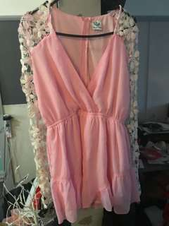 Angel biba pink playsuit