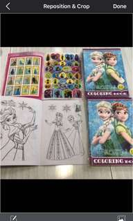 A5 Frozen Coloring And Stickers Book Brand New