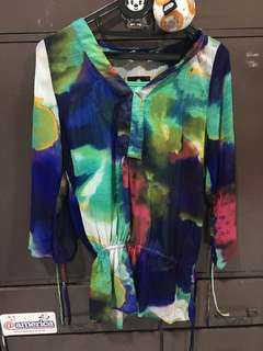 rainbow blouse with iner/tanktop
