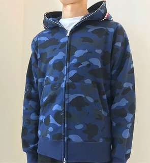 BAPE COLOR CAMO SHARK FULL ZIP HOODIE