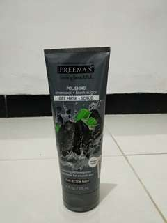 Freeman charcoal + blacksugar gel mask