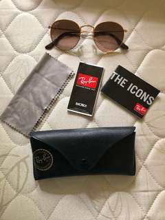 100% Authentic Ray Ban Round Iconic Sunglass