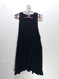 Zara Trafaluc Mini Halter Dress in Black