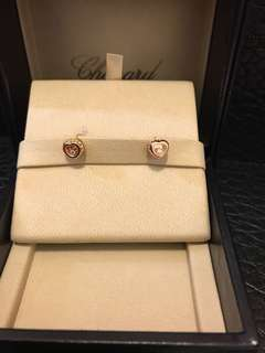 Chopard 18 k rose gold happy Diamond earing