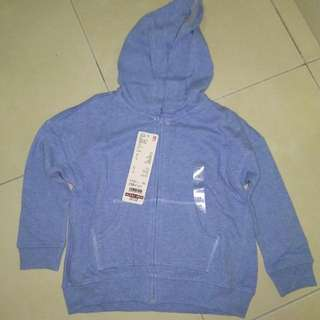 Girl sweater with hooded jacket
