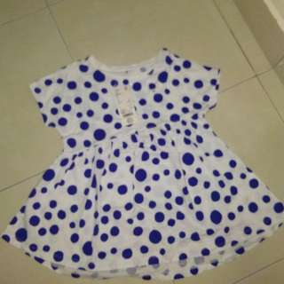 Dress/ Top with blue dots