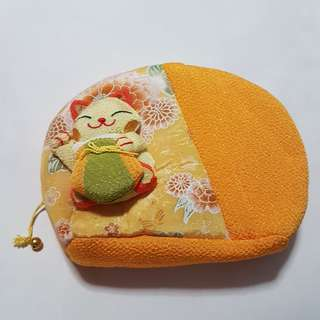 Japanese Cat Cosmetic Pouch
