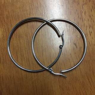 REPRICED Silver Hoop earrings