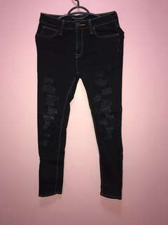 Black ripped jeans size 27