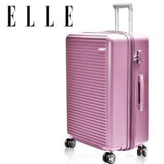 【轉讓】Elle 28吋 經典鑽石橫紋霧面防刮旅行箱