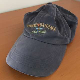 Vintage Retro Tommy Bahama Faded Blue Cap Hat