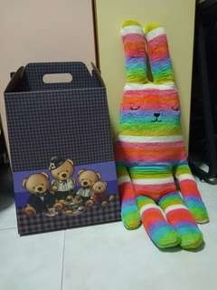 98cm Rabbit Rainbow Plushie