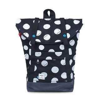 Hellolulu Ottilie All-Day Backpack - B&W polkadots