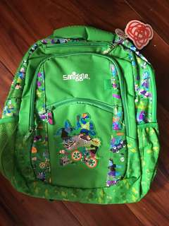 Authentic Smiggle Backpack Cool Dinos color Green School Bag
