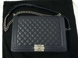 Authentic Chanel Boy Large