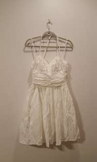 GUESS White Halter Lacey Dress
