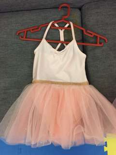 Brand new ballet dance wear with tulle skirt (size US 2-4 years old) x 2