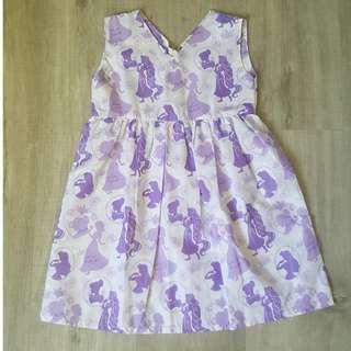 Brand New Handmade Premium V-Neck Zipper Back Dress –  Princess Print