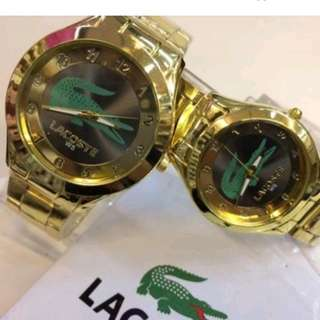 Free Sf Lacoste Couple Watch