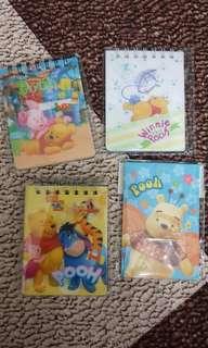 Winnie the pooh note book set (小熊維尼記事簿一套)