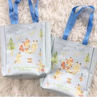 CUSTOM TOTE BAG CANVAS POUCH bunny