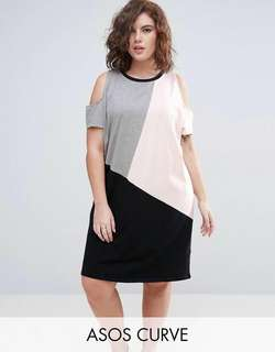 Cold Shoulder Plus Size Dress Blouse