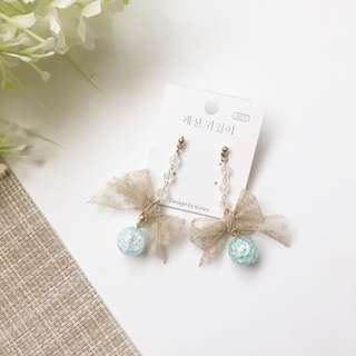 Crystal with Ribbon and Crystal Dangle