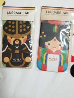 Korea Traditional Bride and General Luggage Tag
