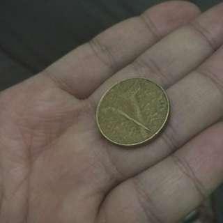 RM1.00 coin.