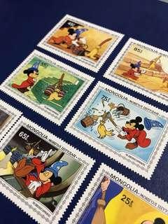 蒙古迪士尼郵票 魔法師米奇 Disney stamp mickey