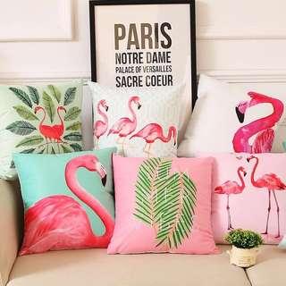Flamingo Tropical Cushion Cover