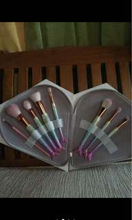 7 pcs brushes mermaid set with Diamond bag
