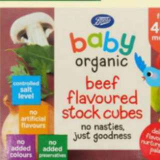 Boots Baby Organic Stock Cubes - Only Beef Cube Available