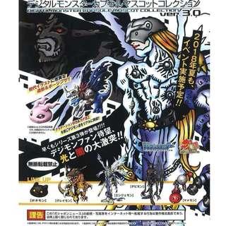 [JUL GACHA PO] Digimon Digital Monsters Capsule collection  figure ver. 3.0 デジモン デジタルモンスター カプセルマスコットコレクション ver.3.0 5pcs set