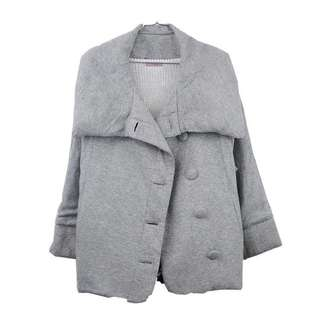 Gray Cotton Puffed Winter Jacket