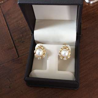 ✨Last Offer✨Gold & Diamonds Akoya Sea Pearl Earrings - Bücherer