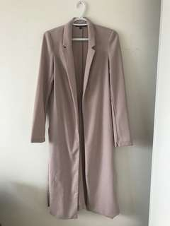 Light pink maxi blazer