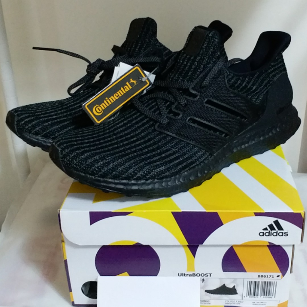 a7fbfd1d933 SALE LAST ONE 全新Brand New Adidas Ultra boost 4.0 Triple Black 全黑 ...