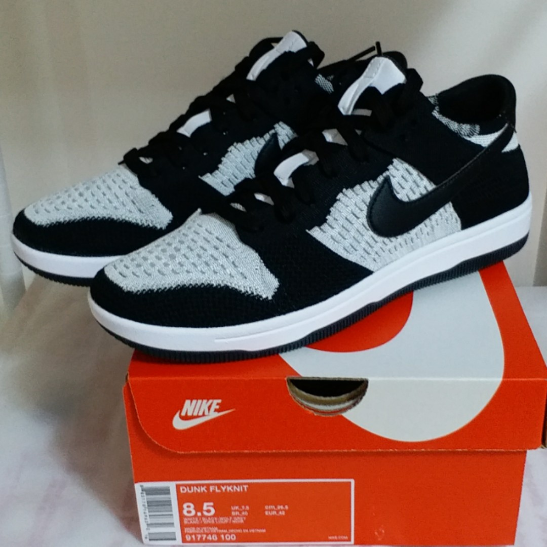 a76a0856d278 全新Brand New Nike Dunk Low Flyknit Black 黑917746-100 US8.5 UK7.5 ...
