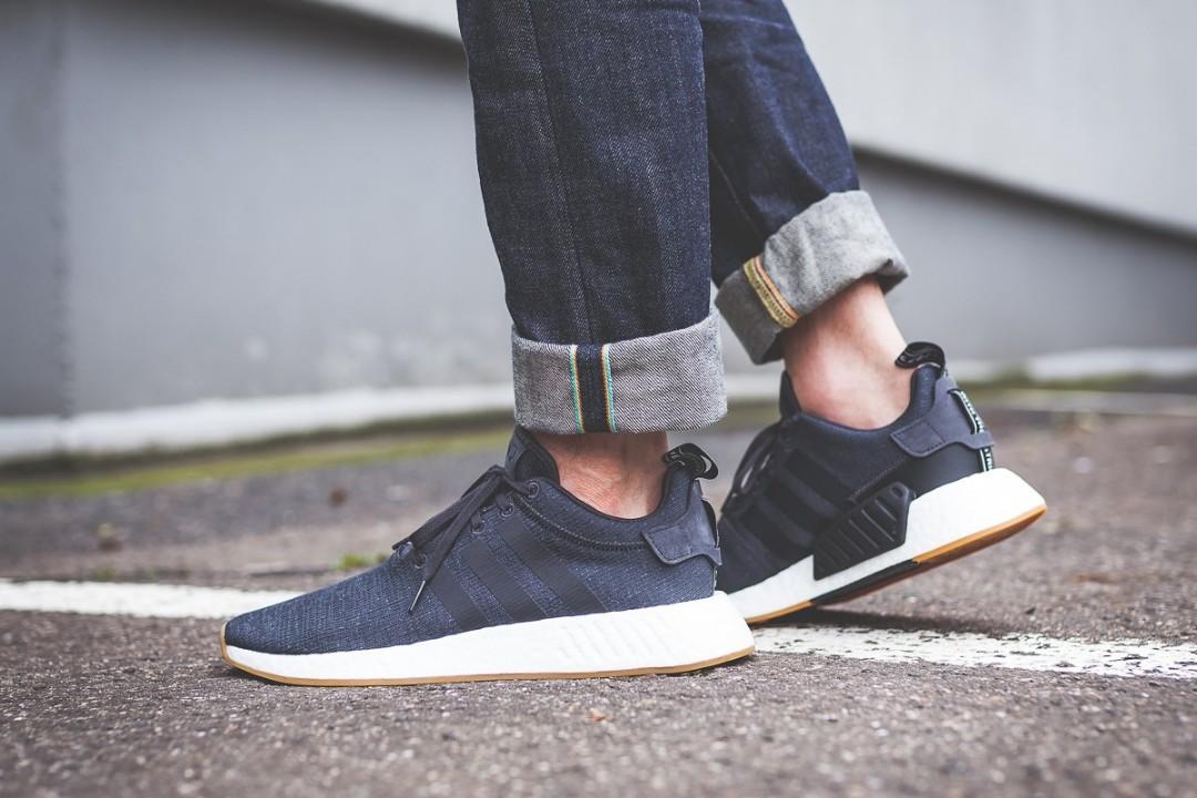 Adidas Nmd R2 Grey Blue Black Gum Men S Fashion Footwear On